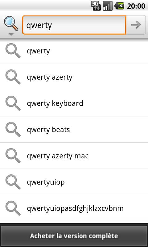 Clavier Android Azerty Lite- screenshot