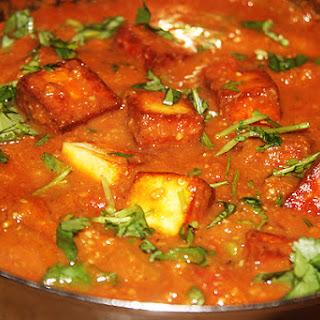 Spicy Paneer Masala Balti.