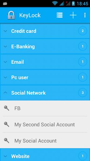 KeyLock Password Manager Free