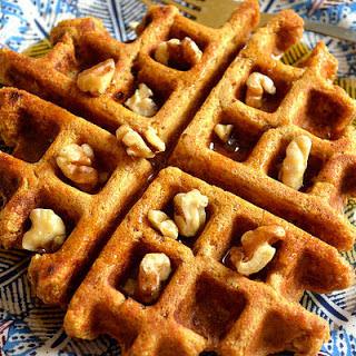 Vegan Spiced Sweet Potato Waffles