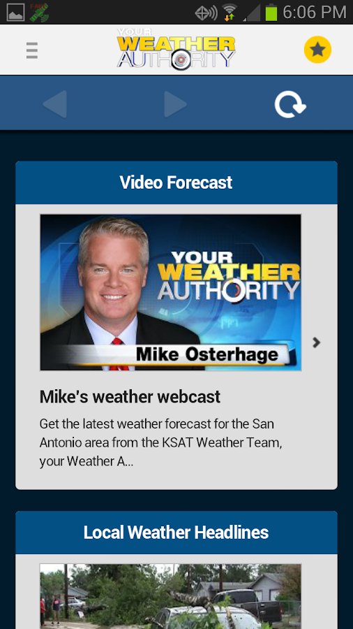 South Texas Weather Authority - screenshot