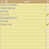 Note To Do. Widget