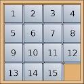 15 puzzle – Logic game logo