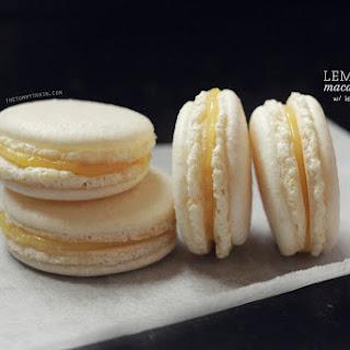 Lemon Macarons with 5-Minute Lemon Curd Filling.