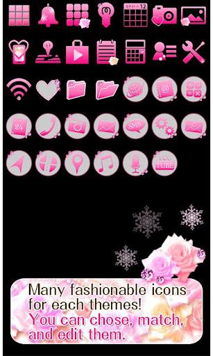 Cute Theme Winter Rose Heart 1.0 Windows u7528 4