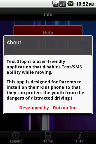 Text Stop - screenshot