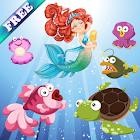 Meerjungfrau und Fische Kinder icon