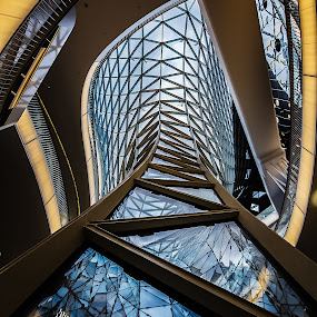 Germany Abstract by Wissam Chehade - Buildings & Architecture Architectural Detail ( abstract, shopping mall, frankfurt, detail, buildings, germany, lines, architecture, myzeil, downtown, curves )
