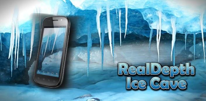 RealDepth Ice Cave LWP apk