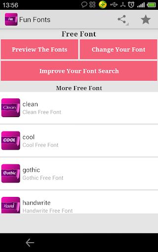 Free Fun Fonts for FlipFont