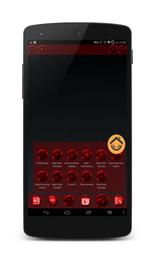 Chromed Garnet Launcher Theme - screenshot