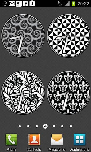 黑色和白色的時鐘