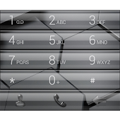 Dialer Glass Bar Theme Skin