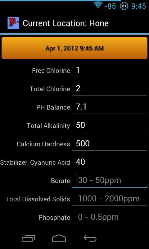 Pool Pro Home- screenshot