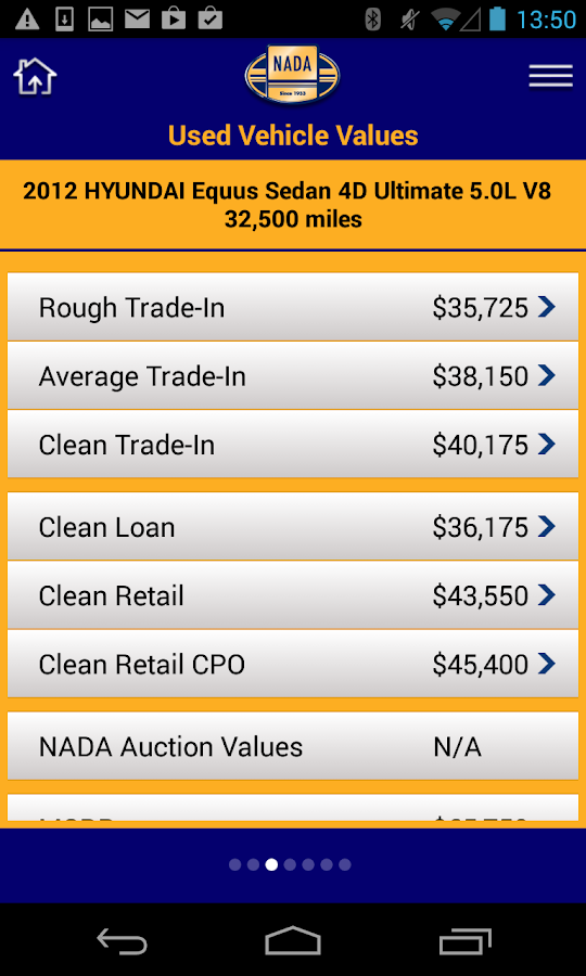 NADA MarketValues - screenshot