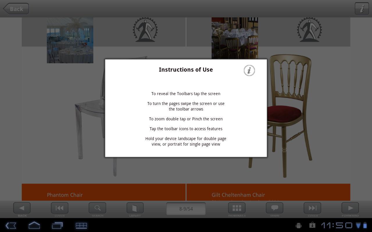 Black Event Furniture- screenshot