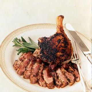 Herb-Rubbed Duck with Tart Cherry and Sage Sauce
