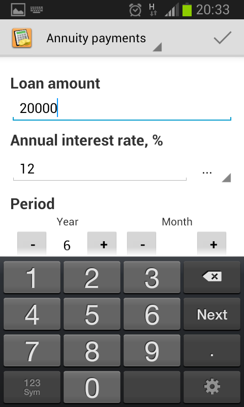 Simple Loan Calculator- screenshot