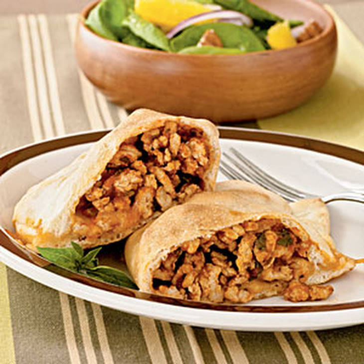 Chicken and Basil Calzones Recipe