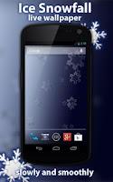 Screenshot of Ice Snowfall Free LWP