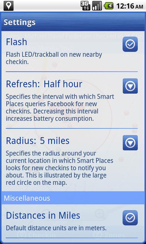 Smart Places Checkin - screenshot
