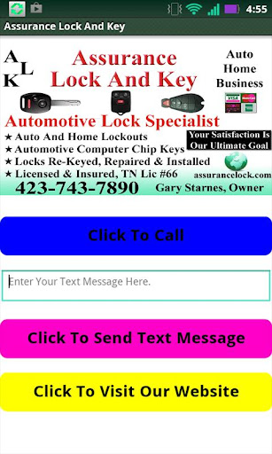 Assurance Lock Key