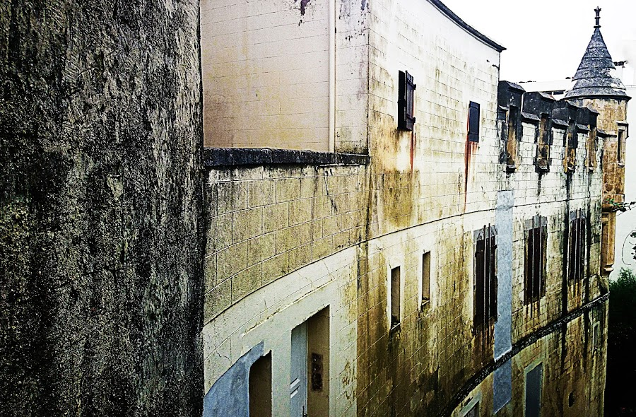 Decayed by Alexandra Rafaila - Buildings & Architecture Other Exteriors ( biarritz, old, building, castle, france, architecture, ruine, hotel, beach, decayed,  )