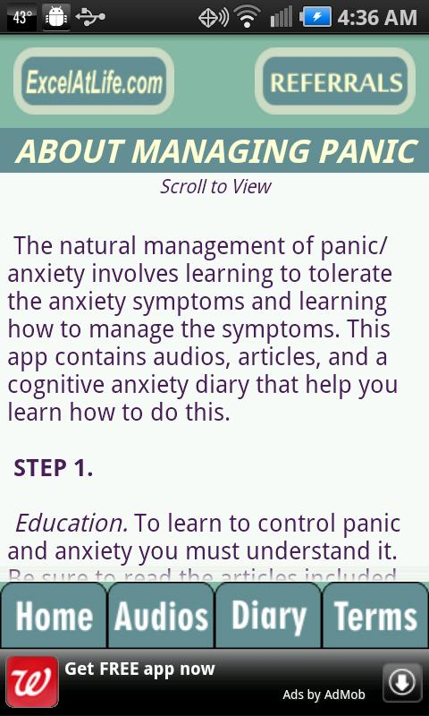 Stop Panic & Anxiety Self-Help- screenshot