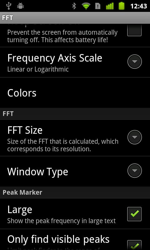 FFT- screenshot