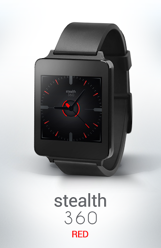 Watch Face - Stealth360 Red