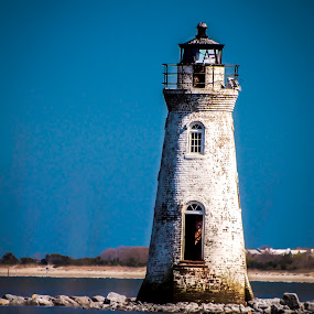 Savannah Light house by Timothy Scarsphotography - Buildings & Architecture Decaying & Abandoned ( water, old, lighthouse, beach, , Beach, sunset, blue, ocean.  )