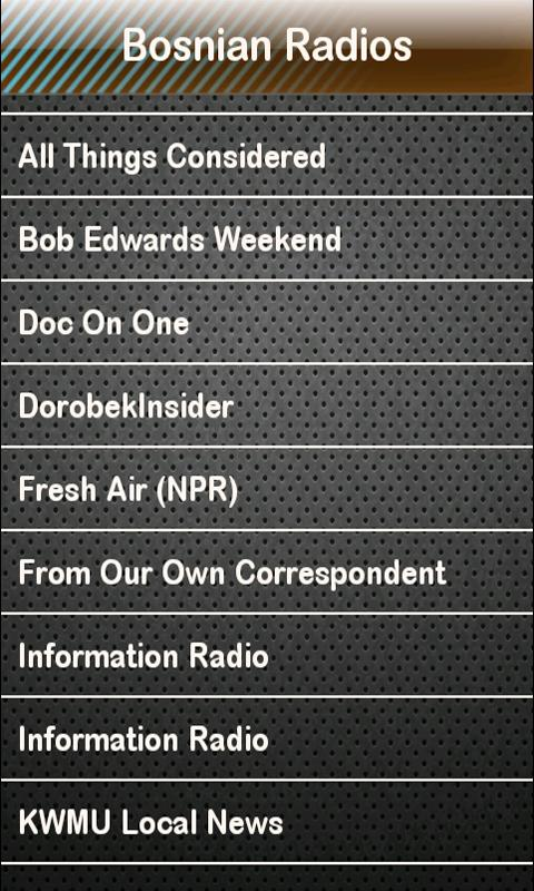 Bosnian Radio Bosnian Radios - screenshot