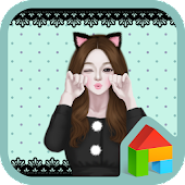 lovely girl cat dodol theme