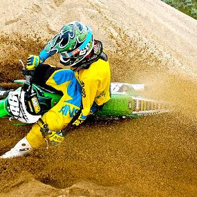 Sand Surfing by Zachary Zygowicz - Sports & Fitness Motorsports ( sand, motocross, dirtbike, motorcycle, dirt )