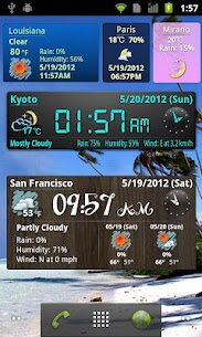 World Weather Clock Widget 3