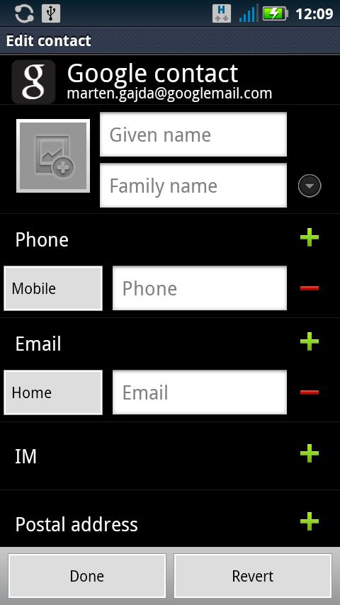 Contact Editor Free- screenshot