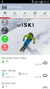 iSKI Slovenija - screenshot thumbnail