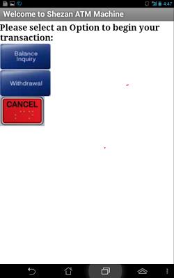 Shezan ATM Machine - screenshot
