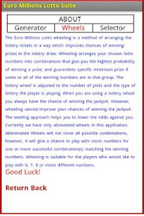 Euro Millions Lotto Suite - screenshot thumbnail
