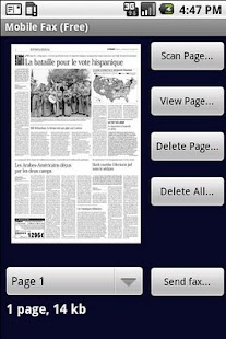 Mobile Fax - screenshot thumbnail