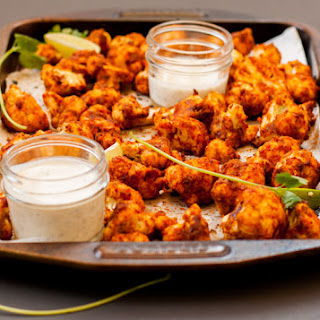 Spicy Honey Lime Cauliflower Hot Wings.