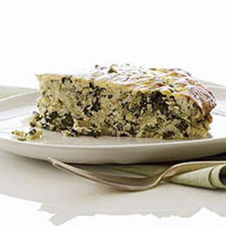 Spinach Ricotta Pie.