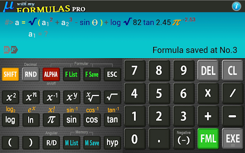 Scientific Calculator Mu PRO- screenshot thumbnail
