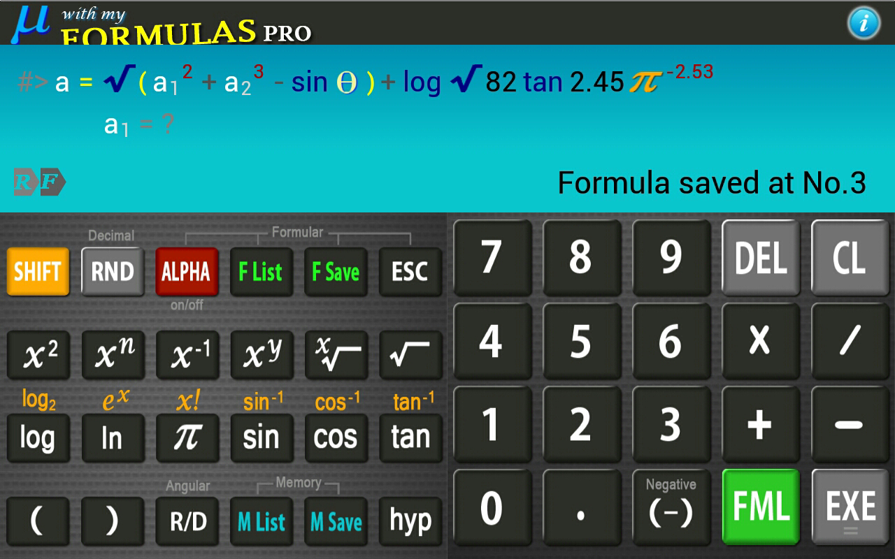 Scientific Calculator Mu PRO- screenshot