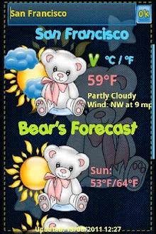 Teddy Bear Weather Widget Gratis