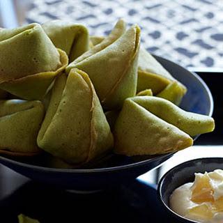 Green-Tea Fortune Cookies.