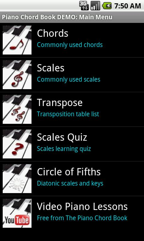 Piano piano chords list : Piano Chord Book - Android Apps on Google Play