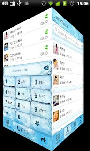 GO Contacts Iceblue Theme - screenshot thumbnail