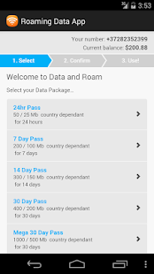 Roaming Data App- screenshot thumbnail