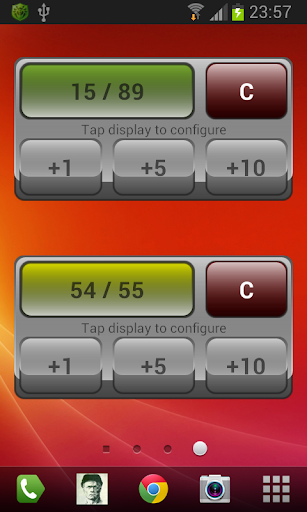 Goofy counter widget